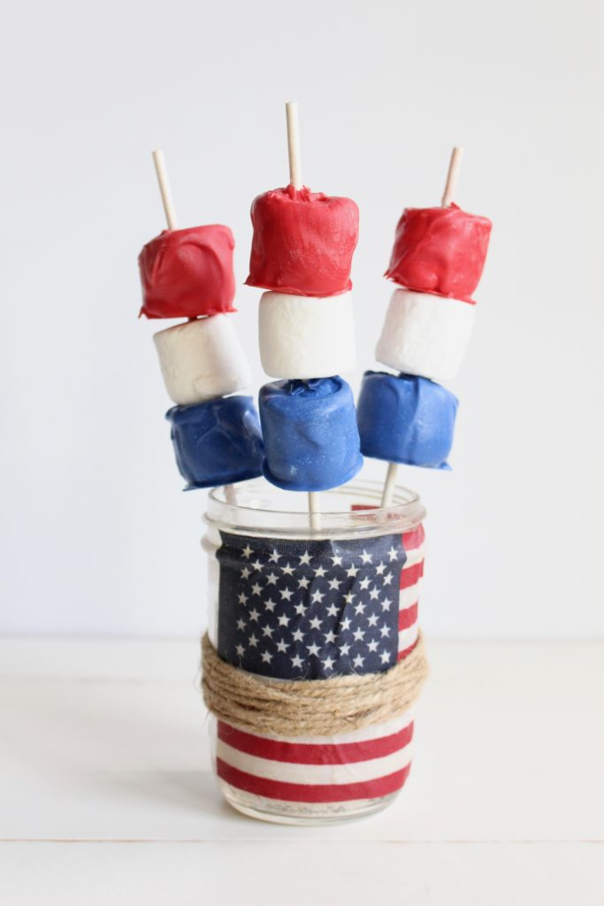 Red, White and Blue Marshmallows