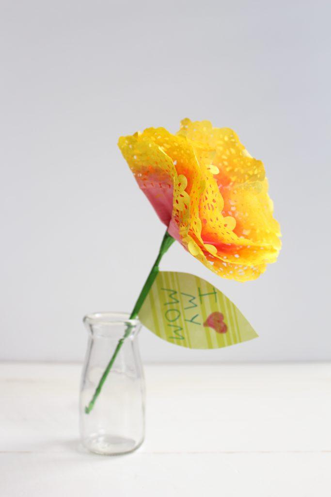 Watercolor Paper Flower Doily
