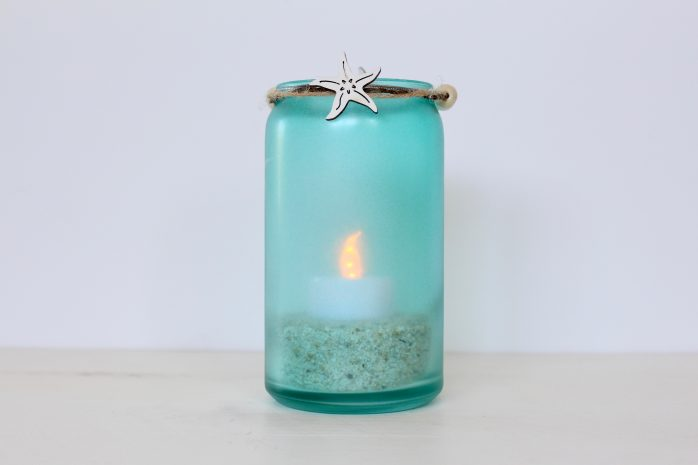 Beach Glass Candle