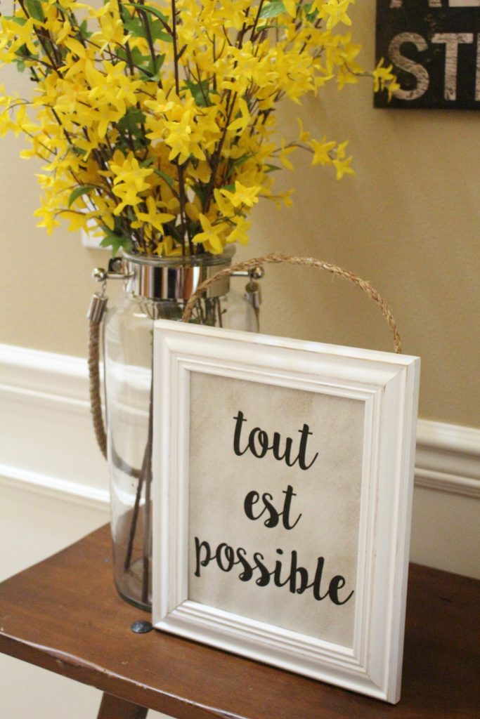 """French Printable Art: Tout est possible in French means """"Everything is possible"""" or """"The sky's the limit"""" in English. Just print and frame for instant French chic!"""