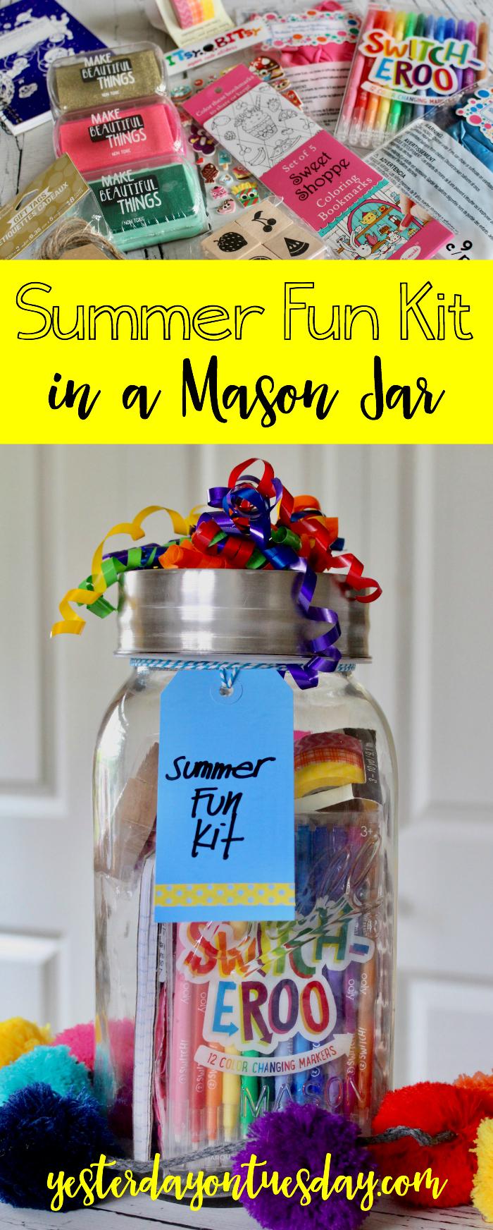 Summer Fun Kit in a Mason Jar
