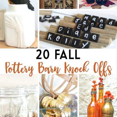 20 Fall Pottery Barn Knock Offs