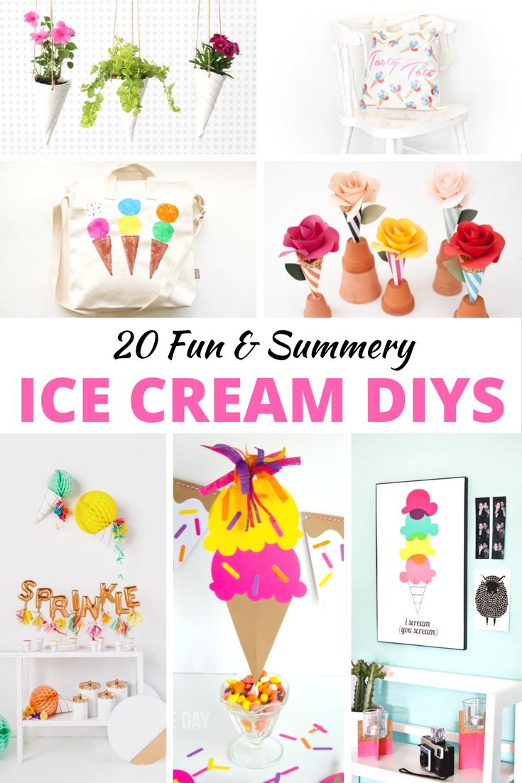 20 Fun & Summery Ice Cream DIYs