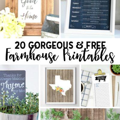 20 Gorgeous and Free Farmhouse Printables