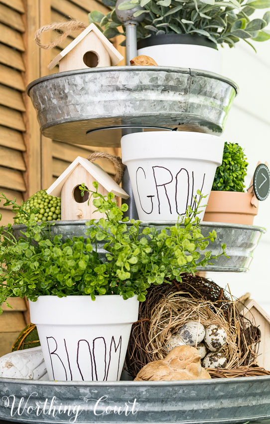 DIY White Clay Pots from Worthing Court Blog