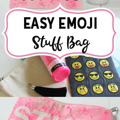 Easy Emoji Stuff Bag for School