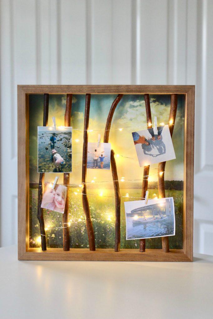 DIY Lighted Frame