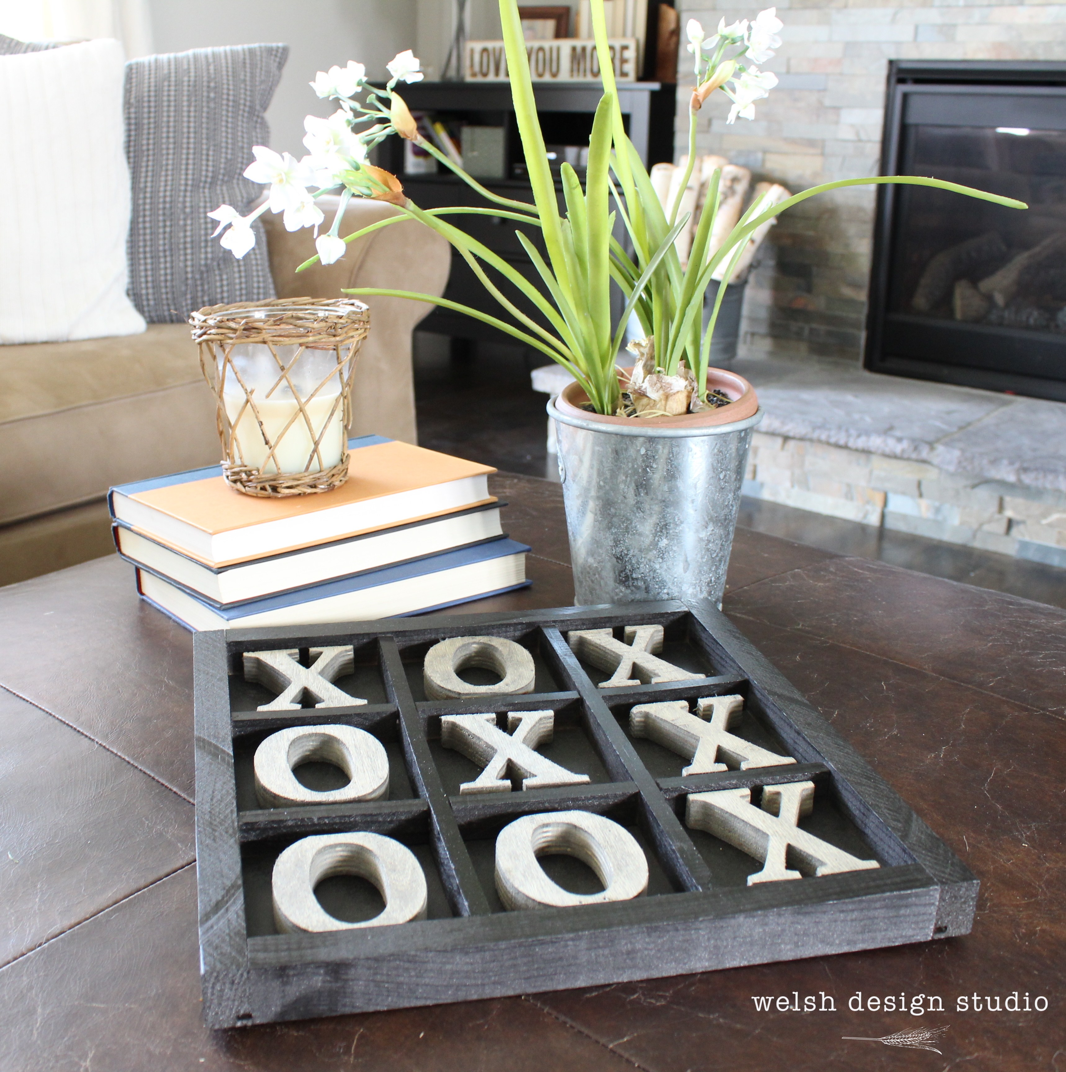 Rustic Tic-Tac-Toe Board from Welsh Design