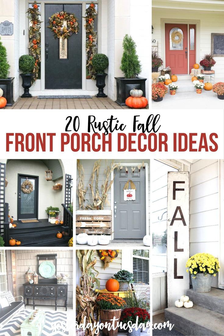20 Rustic Fall Front Porch Decor Ideas