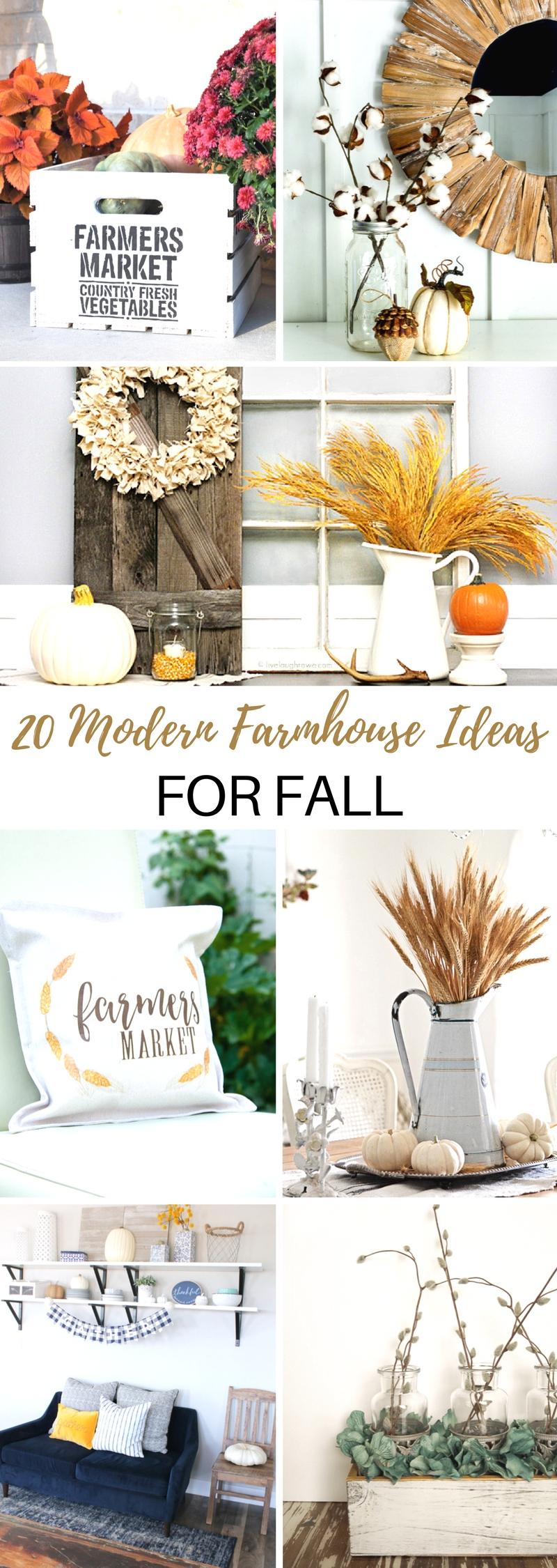 20 Must Make Modern Farmhouse Ideas for Fall