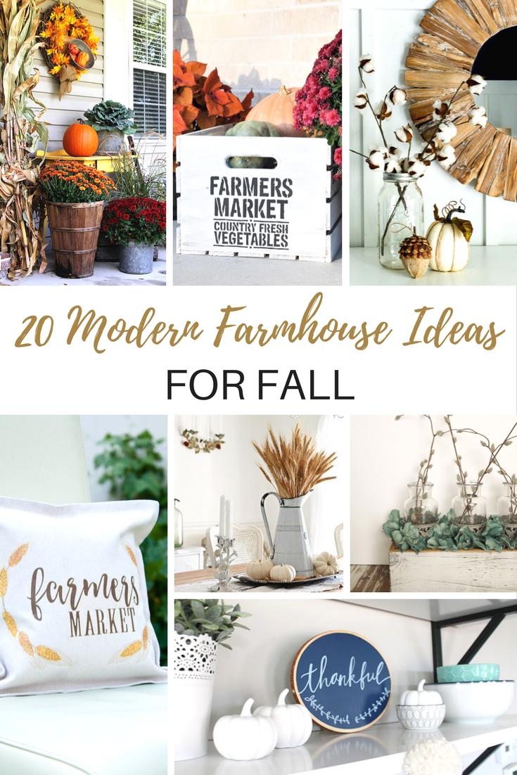 Cozy Modern Farmhouse Ideas for Fall