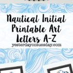 Beachy Initial Printables