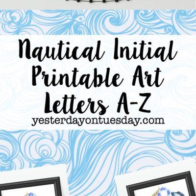 Nautical Initial Printable Art
