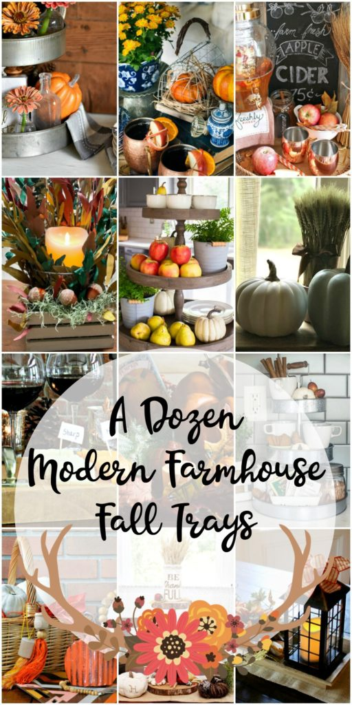 Rustic Fixer Upper Style Fall Tray Ideas