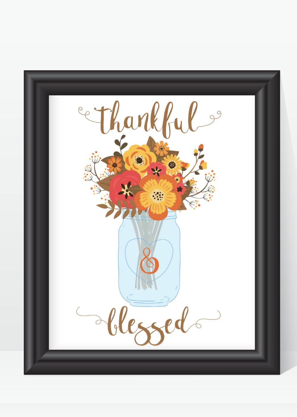 Fall Mason Jar Themed Art for Fall