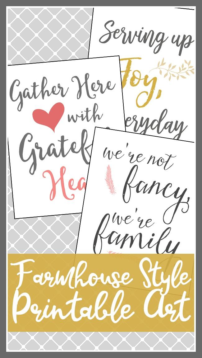 Free Farmhouse Style Printable Art