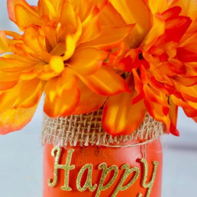 Happy Fall Mason Jar