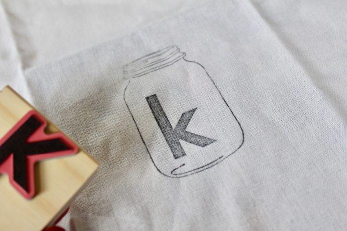 DIY Mason Jar Stamped Napkins