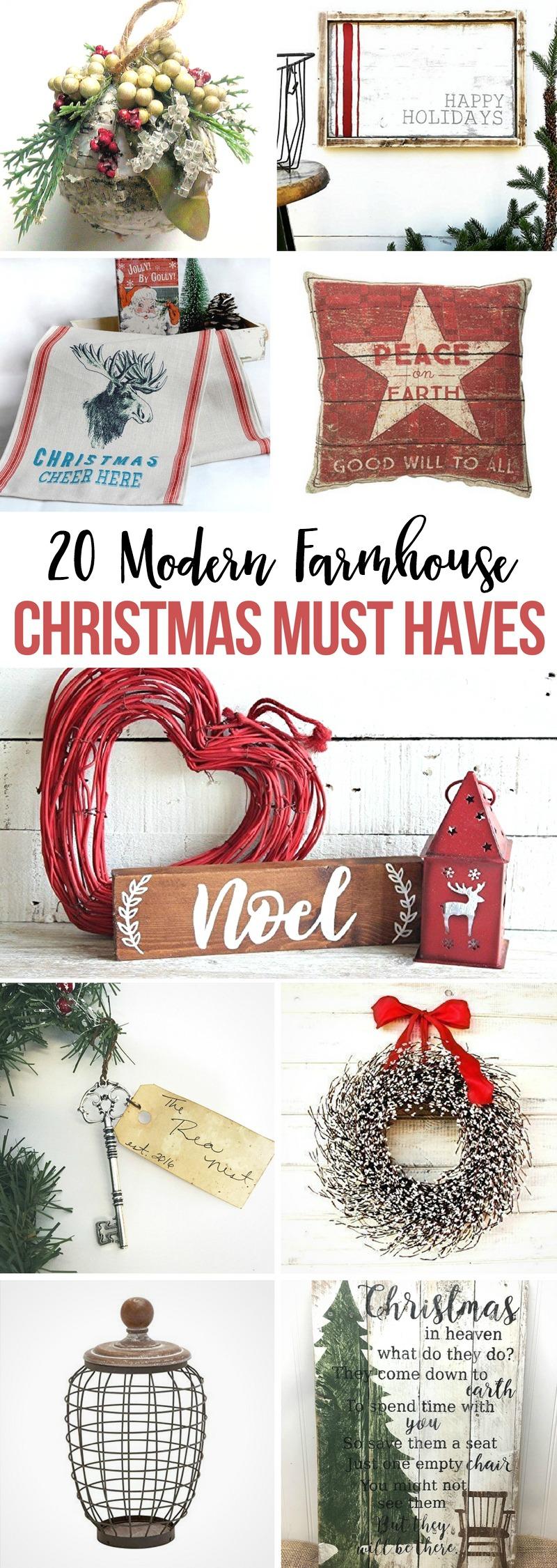 20 Modern Farmhouse Christmas Must Haves