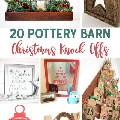 20 Pottery Barn Christmas Knock Offs