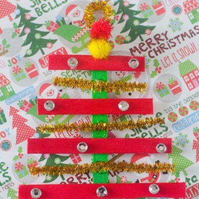 Glittery Popsicle Stick Ornament