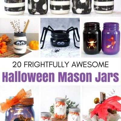 20 Frightfully Awesome Halloween Mason Jars