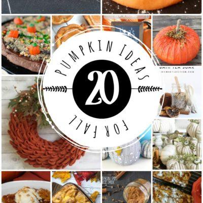 20 Pumpkin Ideas for Fall