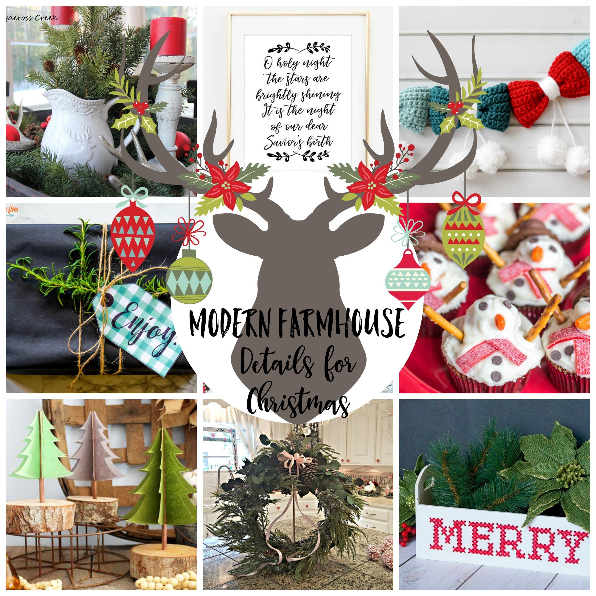 Farmhouse Details for Christmas