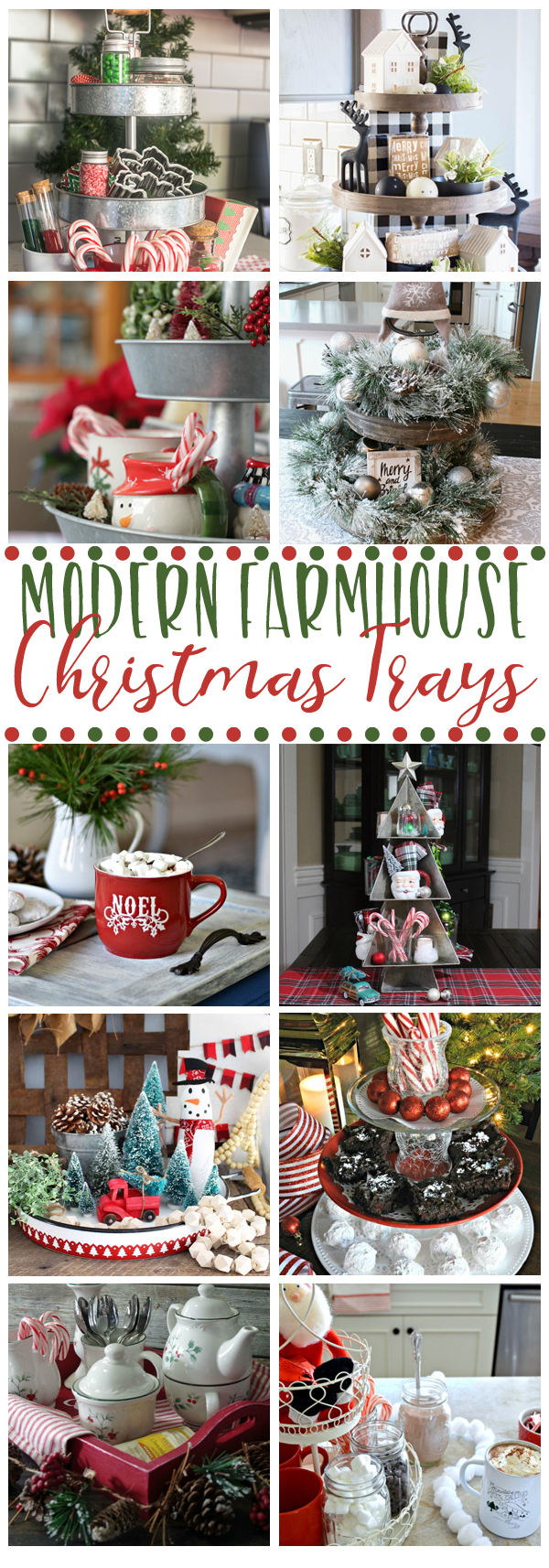 Fixer Upper Style Christmas Trays
