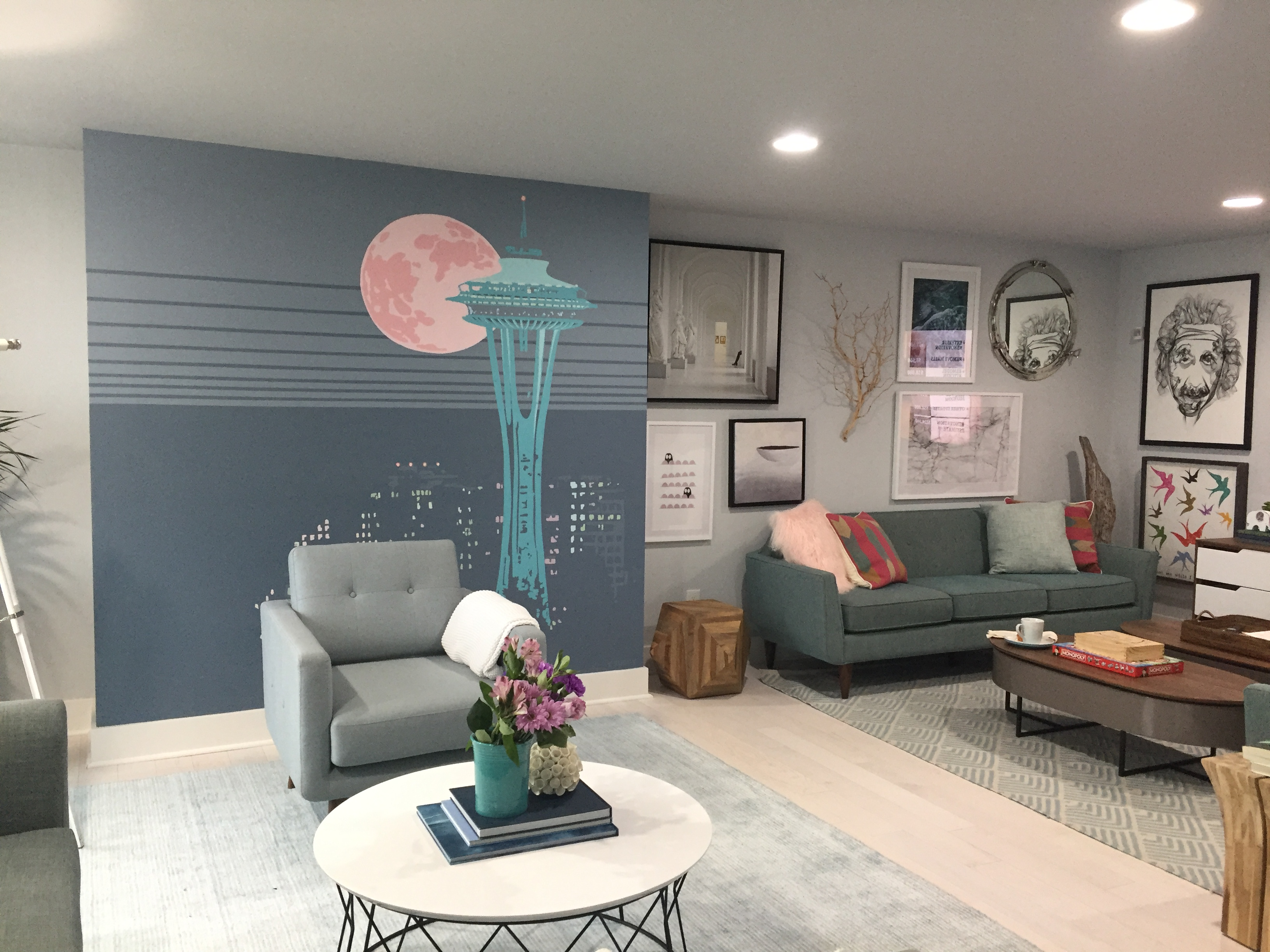 HGTV Dream House Lounge Mural