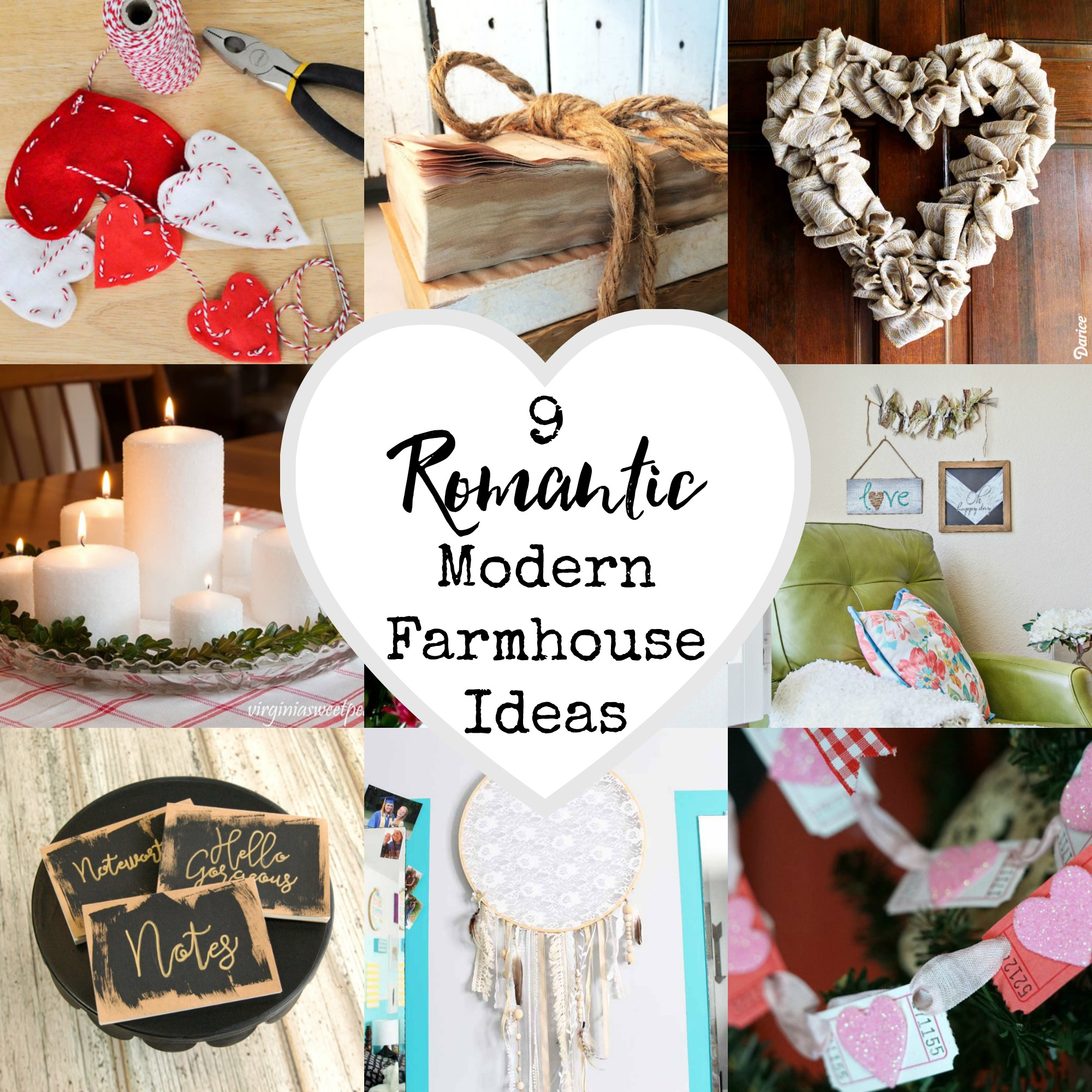 9 Romantic Modern Farmhouse Ideas
