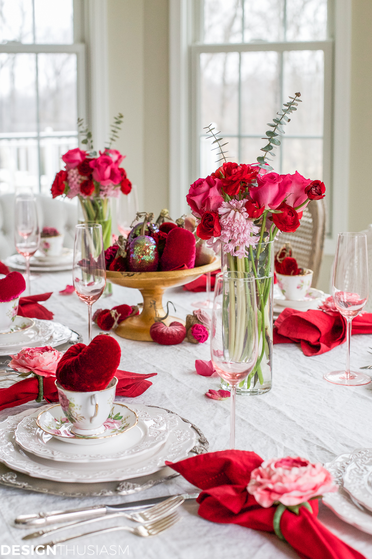 Velvet Heart Decorations
