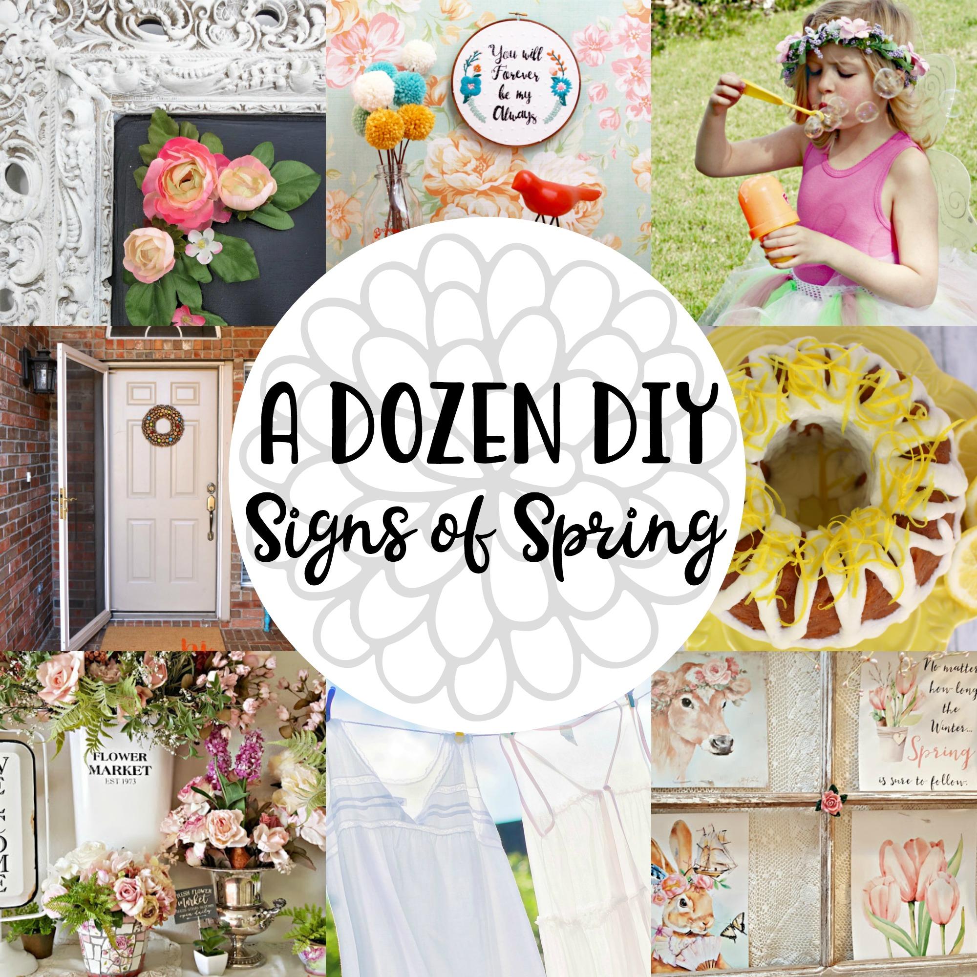 A Dozen DIY Signs of Spring