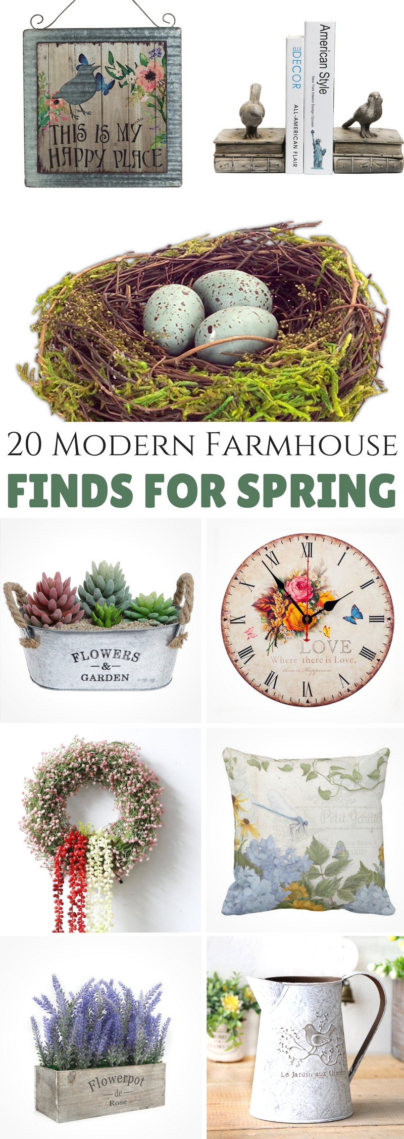 Modern Farmhouse Finds for Spring
