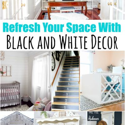 8 Black and White DIY Decor Ideas