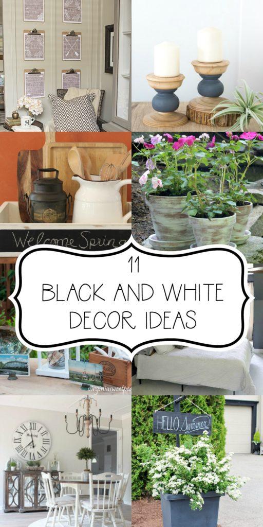 11 Black and White Decor Ideas