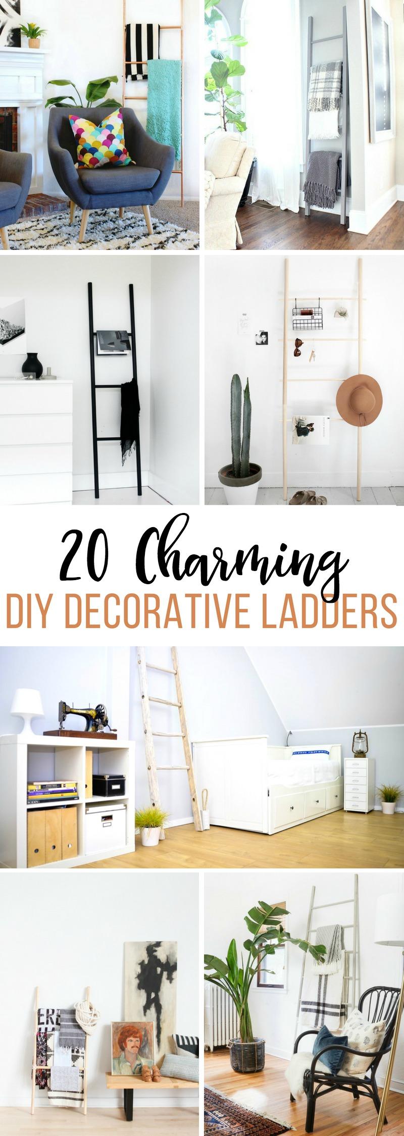 20 Charming DIY Decorative Ladders