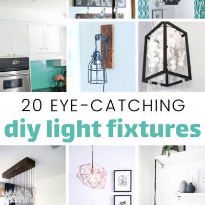 20 Eye Catching DIY Light Fixtures