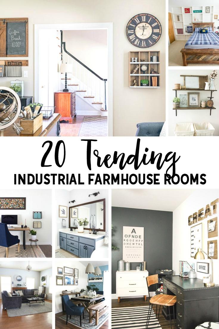 Industrial Farmhouse Rooms