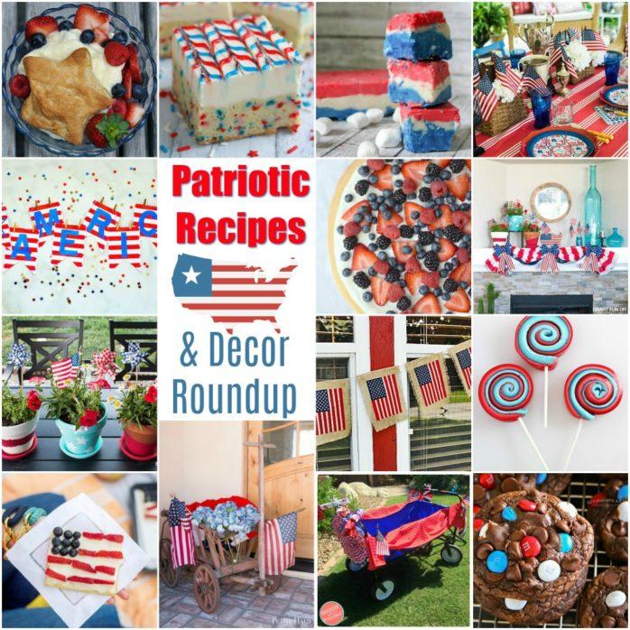 Patriotic Recipe and Patriotic Decor
