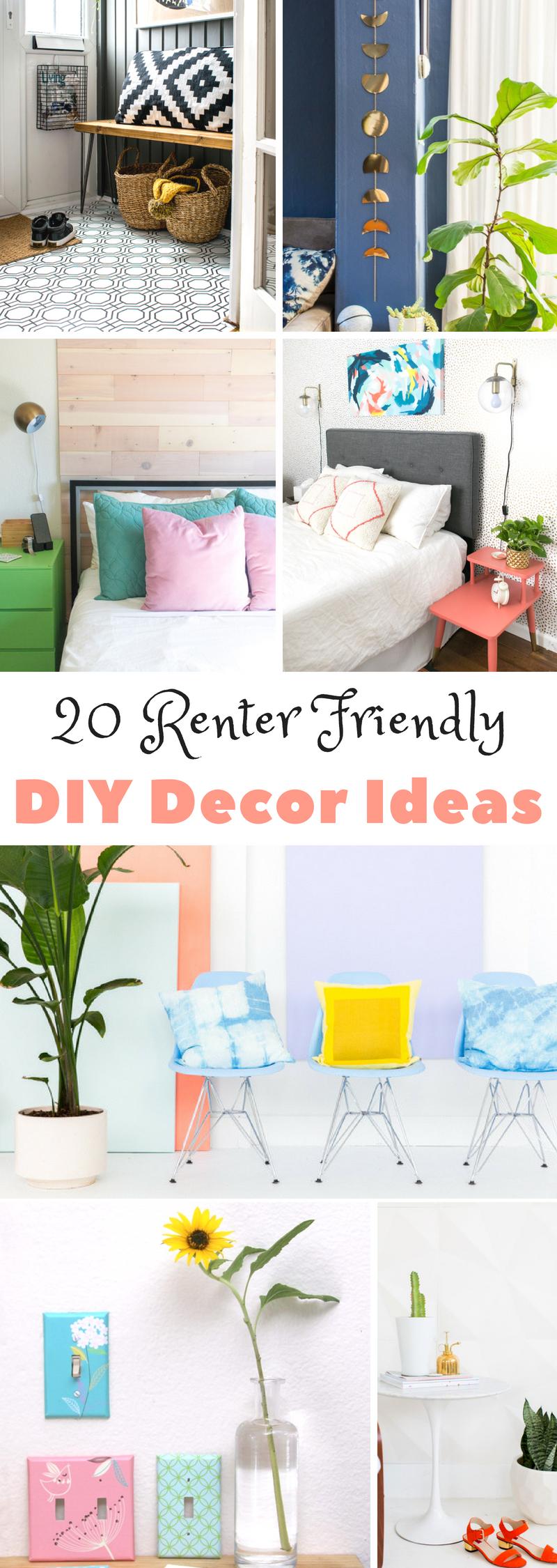 Renter Friendly DIY Decor Ideas