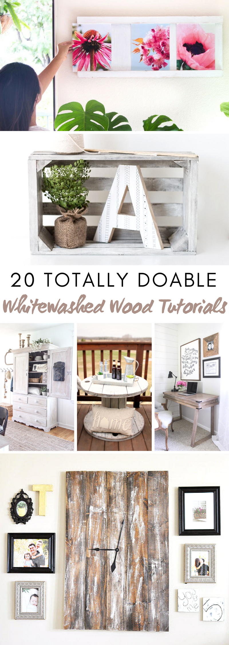 Whitewashed Wood Tutorials
