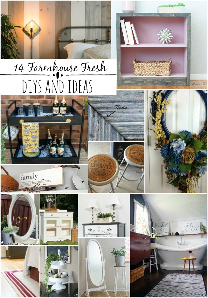 14 Farmhouse Fresh Decor Ideas and DIYs