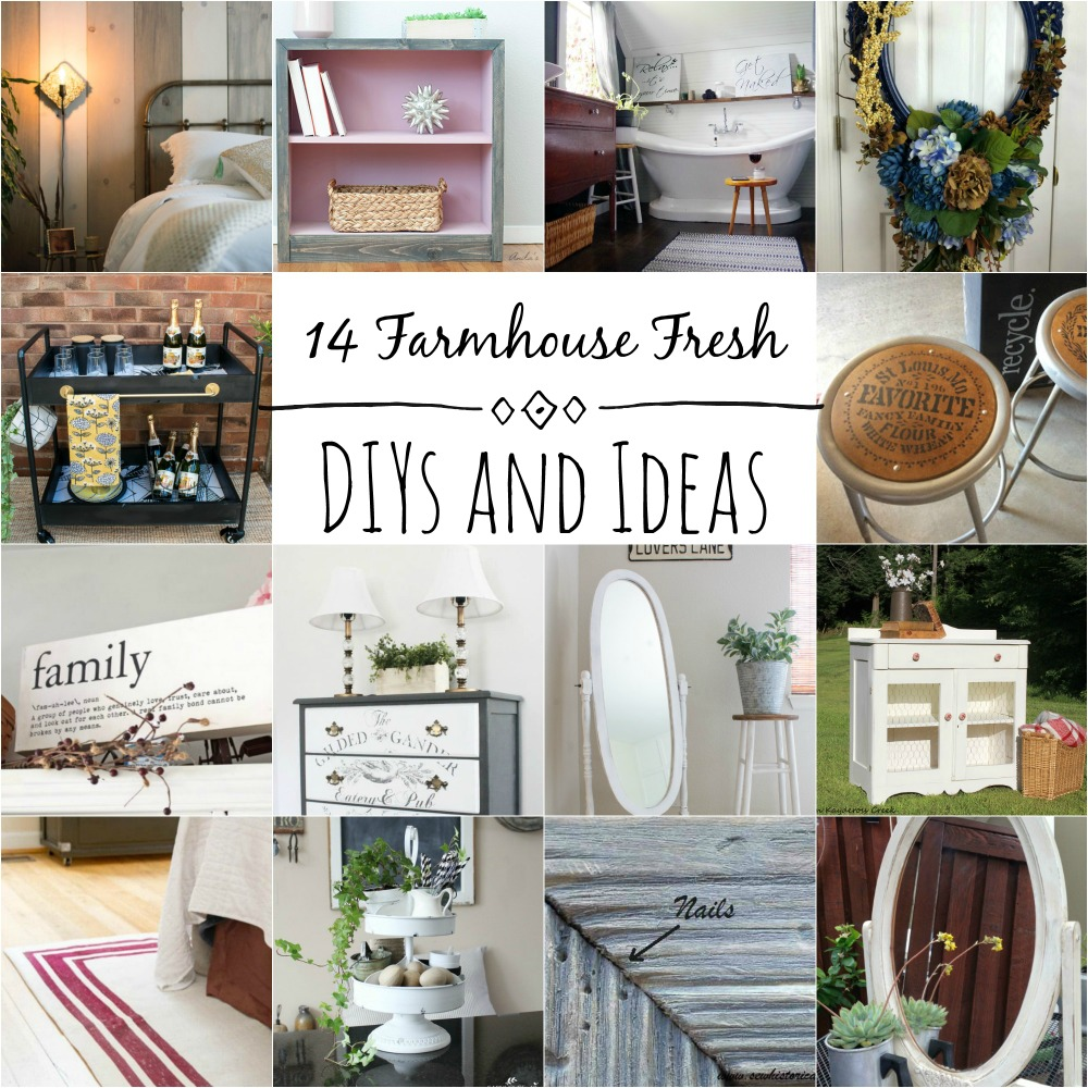 14 Farmhouse Fresh Decor Ideas and DIYs
