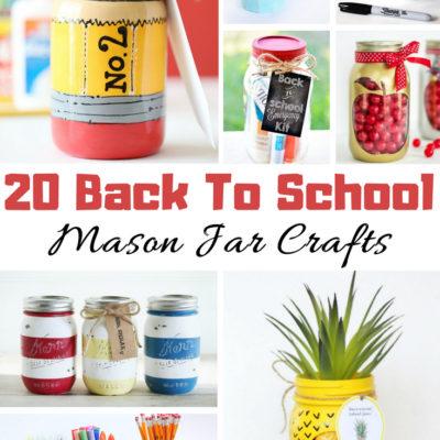 20 Back to School Mason Jar Crafts