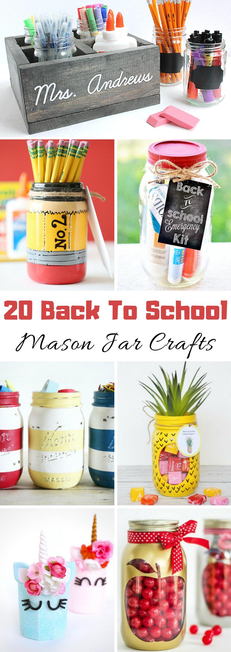 Back To School Mason Jar Crafts