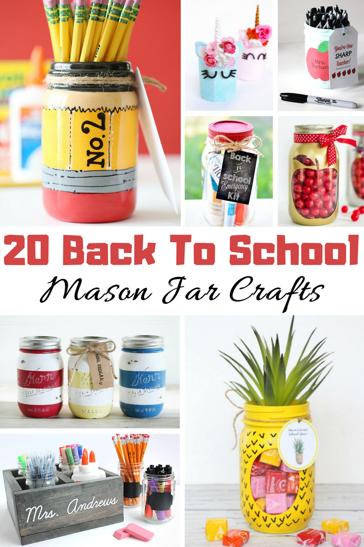 Back To School Mason Jar Crafts