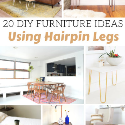 20 DIY Furniture Ideas Using Hairpin Legs