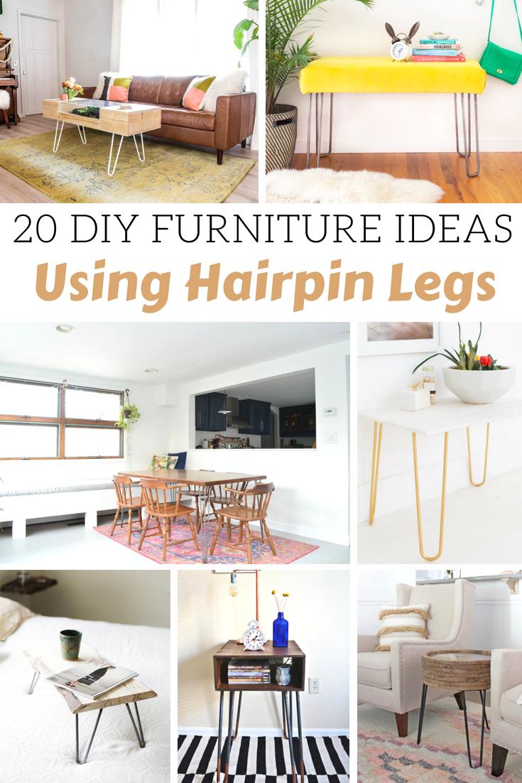 DIY Furniture Ideas Using Hairpin Legs