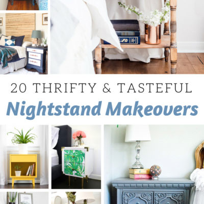 20 Thrifty and Tasteful Nightstand Makeovers